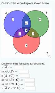 Solved  Consider The Venn Diagram Shown Below  6 Determine