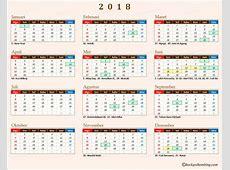 Kalender 2018 Herunterladen kostenlos druckbare Kalender