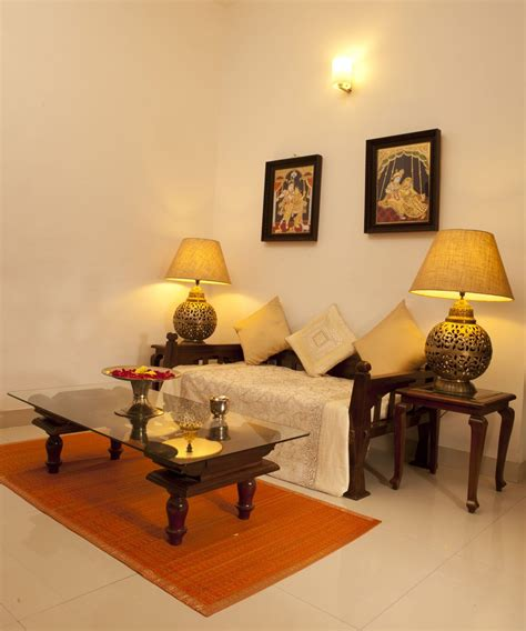 india home decor two seater diwan with center table and side tables