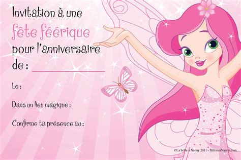 Carte Invitation Anniversaire Fille Carte Invitation Carte Invitation Anniversaire Gratuite Invitations De Cartes Invitations