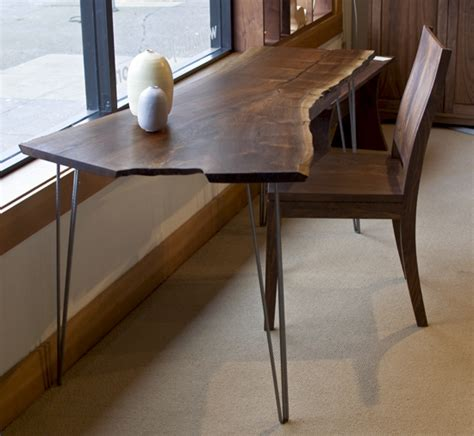 edge desk  hairpin legs  joinery