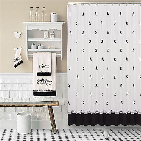 mickey mouse bathroom decor vintage black and white mickey mouse shower curtain home