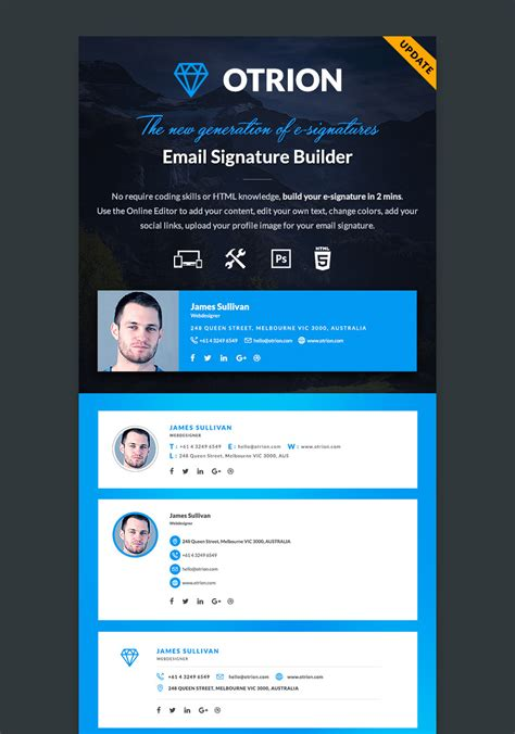 email template builder 12 professional email signature templates with unique designs codeholder net