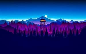 Tower, For, Surveillance, Of, Forest, Fire, Night, Nature