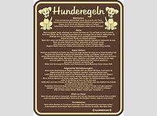 Hunderegeln BlechSchild Spruch FunSchilder 17x22