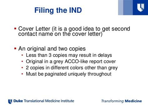 fda ind cover letter ind application process and best practices