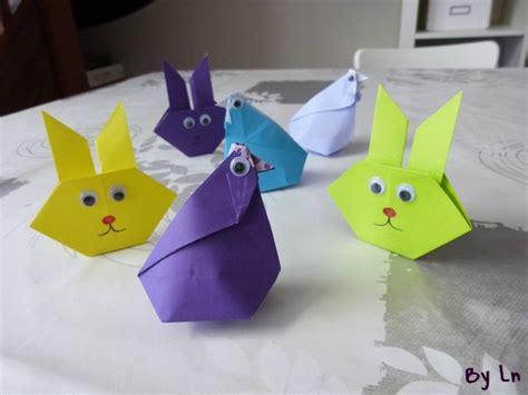 deux id 233 es de pliage de papier origami pour p 226 ques