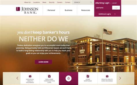 definitive list    bank website designs