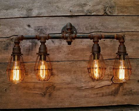 Rustic Bathroom Light Fixtures by 8 Bulb Rustic Barn Wood Bathroom Vanity Light