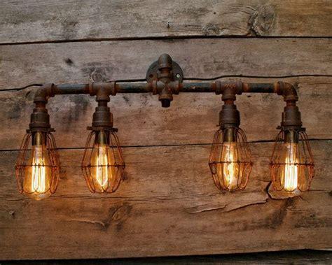 Amazon Com 8 Bulb Rustic Barn Wood Bathroom Vanity Light