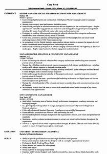 Community Management Resume Samples