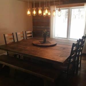 Table De Cuisine En Bois : table de cuisine sur mesure bois et bois m tal table d ner ~ Teatrodelosmanantiales.com Idées de Décoration