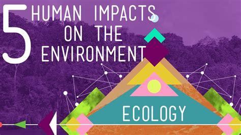 human impacts   environment crash  ecology