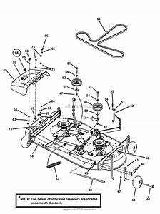 Snapper Yz18425bve  84944  42 U0026quot  18 Hp Ztr Scrambler Series 5 Parts Diagram For 42 U0026quot  Mower Deck