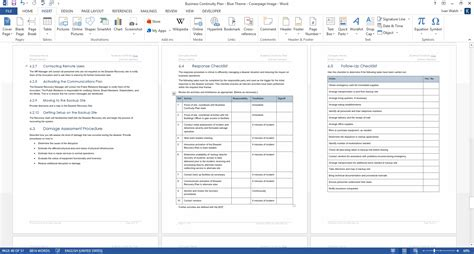 Business Continuity Plan Template (48-page Word + 12 Excel