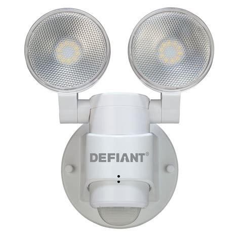 defiant led security light defiant 180 degree 2 head white outdoor flood light dfi