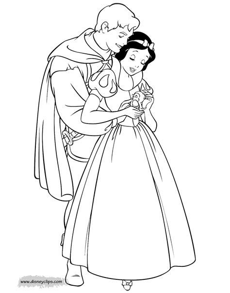 snow white coloring pages disneyclipscom
