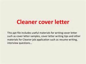 cleaner resume cover letter cleaner cover letter