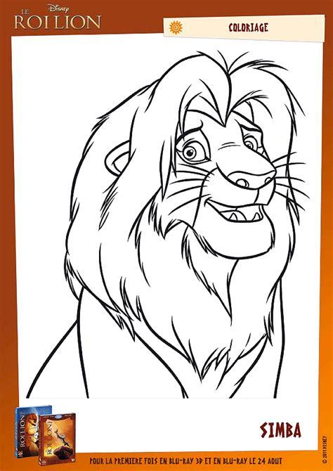 Coloriage Simba Le Nouveau Roi De La Jungle