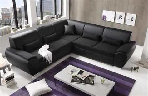 Ecksofa Kombiecke Couch Schlafcouch Funktionssofa Ausziehbar Schwarz 272 Cm 4250826308163