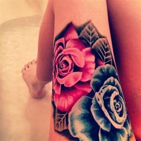 secret thigh tattoos