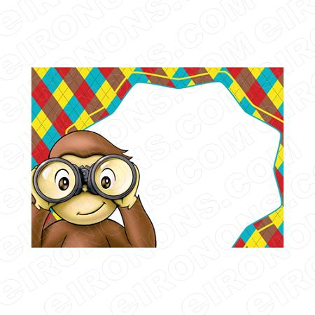 curious george blank editable invitation instant