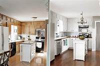 kitchen cabinets white Paint Kitchen Cabinets White Before and After - Home ...