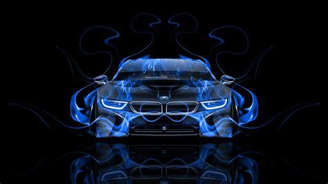bmw  front fire abstract car  el tony