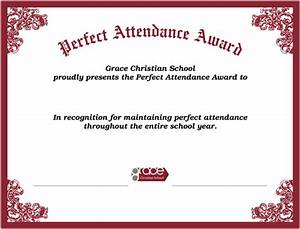 Perfect Attendance Certificate Template Search Results For Perfect Attendance Certificates Free Calendar 2015