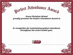 Perfect Attendance Certificate Template Search Results For Perfect Attendance Certificates Free Calendar 2015