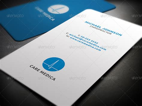 healthcare business cards  psd eps illustrator