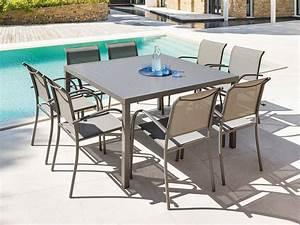 Table 8 Places. salon de jardin table r sine tress e 8 fauteuils ... 8b9b8ae0c97a