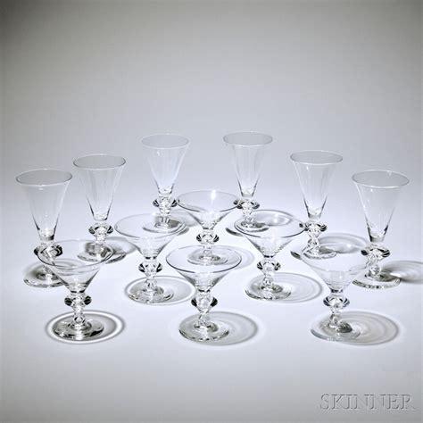 Steuben Barware by Barware Set Steuben Mid 20th Century Comprised Of Nine