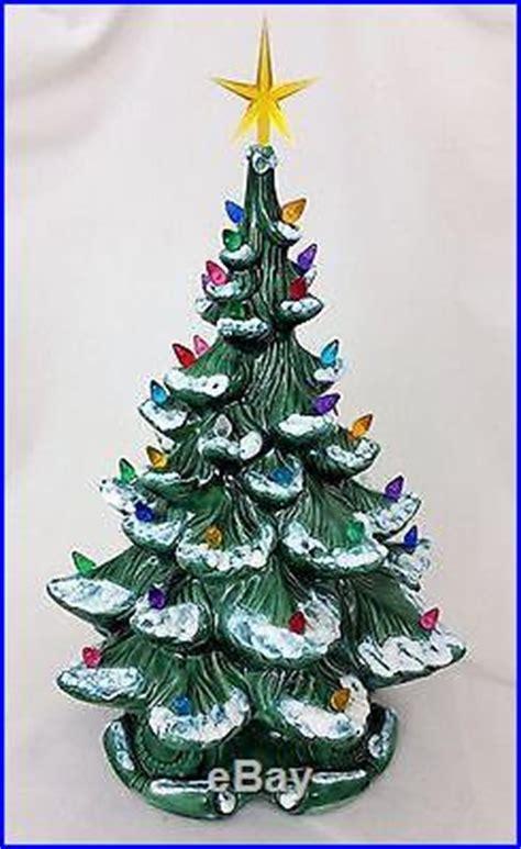 vtg  atlantic mold ceramic  flocked christmas tree