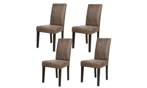 albus lot de  chaises de salle  manger vintage marron