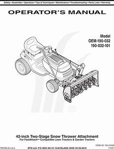 Mtd Oem 190 032 User Manual To The A230627a 0322 67a4 Dd5c