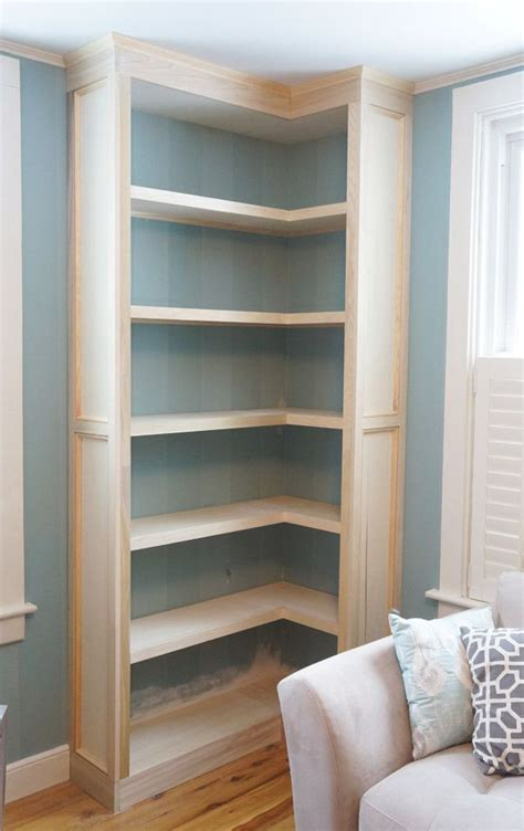 building a built in bookcase building a corner bookcase woodworking projects plans