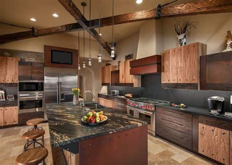 plan de travail cuisine en naturelle cuisine en bois et marbre noir wraste com