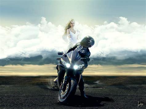 Angel Watching Over Biker
