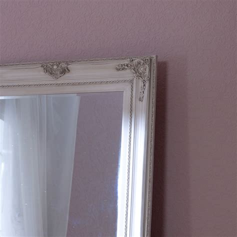 floor mirror and wall mirror extra large ornate aged cream wall floor mirror melody maison 174