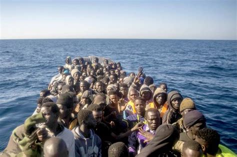 Refugee On Boat by Europe S Alt Right Launches Caign To
