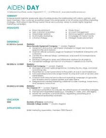 Resume Format For Media by Resume Format 2016 2017for Marketing Manager Resume 2016