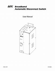 Automatic Disconnect Switch Manuals