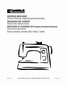 Kenmore Sewing Machine 385 15202 User Guide