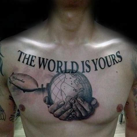 world   tattoo designs  men manly ink ideas