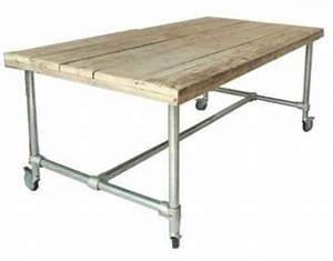 Tisch Rollen Klappbar : industriedesign schreibtisch aus holz und metallgestell 140 cm l nge kaufen bei richhomeshop ~ Markanthonyermac.com Haus und Dekorationen