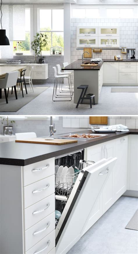 ikea küche inspiration bright beautiful and open click for more ikea kitchen