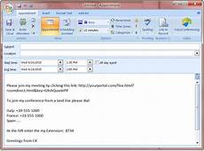 Sending a Meeting Invitation From Microsoft® Outlook® 2003