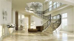 Grand sweeping staircase | Interior Design Ideas.