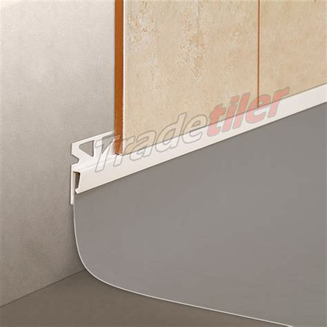 Wall Tile to Vinyl Skirting Tile Trim   White £5.87   VAT